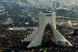 تصاویر هوایی راهپیمایی مردم تهران در ۲۲ بهمن ۱۳۹۲