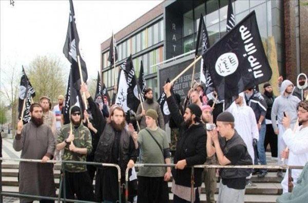 اجتماع حامیان داعش در آلمان