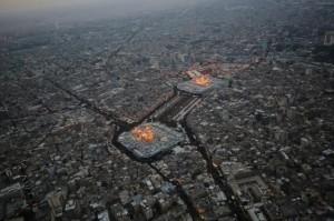 عکسهای هوایی از کربلا در اربعین حسینی